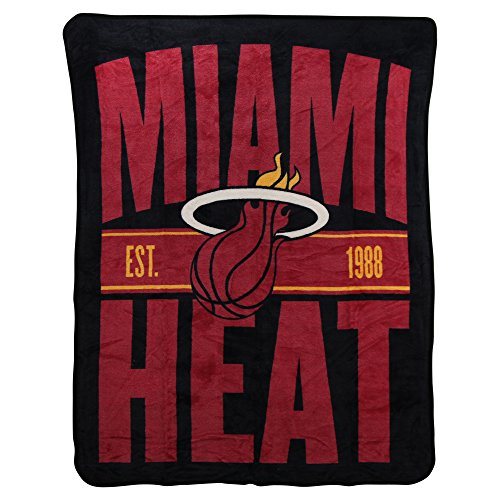The Northwest Company NBA Clear Out Super Soft Plush Throw Blanket (Miami Heat) -