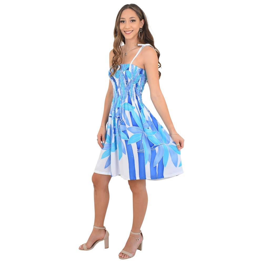 577a711f5ce1d ISLAND STYLE CLOTHING Womens Tube Dress Bamboo Luau Party Bathing Suit  Cover Ups (Bamboo White Blue) at Amazon Women s Clothing store