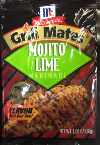 McCormick Grill Mate MOJITO LIME Marinade 1.06oz (6 Packets) - Lime Steak