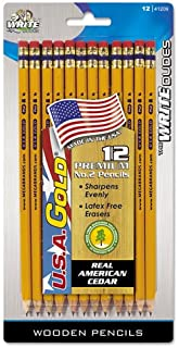 product image for Write Dudes USA Gold Series #2 Pencils, Cedar, Yellow, Sharpened, Dozen