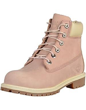 Youths 6 Inch Classic Premium Purple Nubuck Boots 7 US