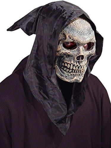 Morris Costumes Skull hooded flexi face (Morris Skull Mask)