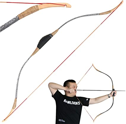 "50lbs Traditional 52/"" Archery Longbow Right Left Hand Recurve Bow Hunting Target"