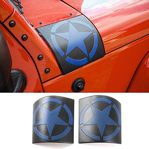 Cowl Body Armor Cover Sport Exterior Accessories Parts For Jeep Wrangler Rubicon Sahara JK & Unlimited 2007-2017 (New Style Blue)