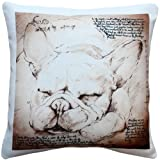 Pillow Decor - French Bulldog 17x17 Dog Pillow