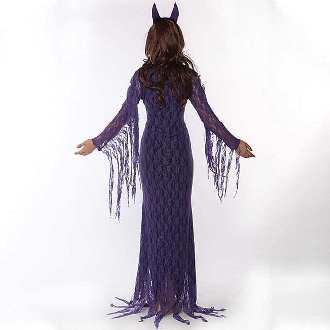 JXQ-N damska sukienka na Halloween, koronka, frędzel, teufel, dla panny młodej, kostium dla wampira, sukienka na imprezę, sukienka koktajlowa, seksowna, wąska, maxi, sukienka z długim rękawem, su