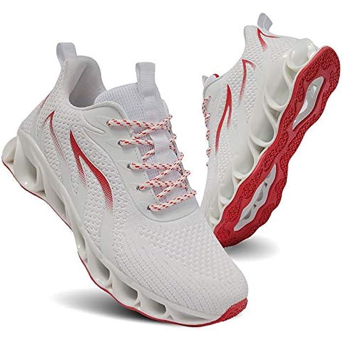 TIAMOU Running Shoes Women Walking Athletic Tennis Non Slip Blade Type Sneakers