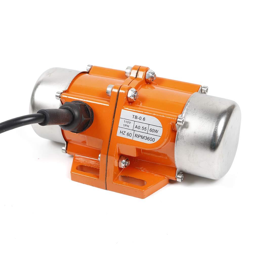 Motor TBVECHI AC Vibration Motor 60W Industrial Vibrating Asynchronous Vibrator 110V 3600RPM
