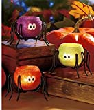 51BmEs1STuL. SL160   Halloween Spider Tea Light Candle holders, Set of 3