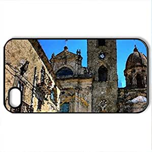 Troina - Case Cover for iPhone 4 and 4s (Religious Series, Watercolor style, Black)