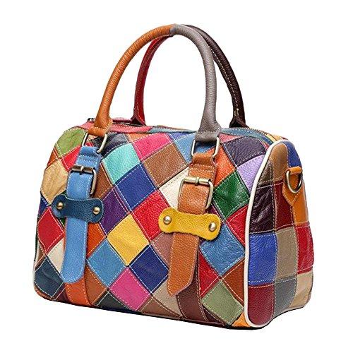 Couture Couture Brown épaule Main Cuir Sacs Coloréépaule Mode WKNBEU Diagonale Féminine à qOnEE7