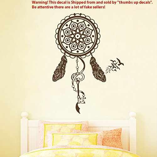 Dream Catcher Decal DREAMCATCHER WALL DECALS Protection Vinyl Sticker Feather Stickers Nursery Bedroom American Indian Decor T213