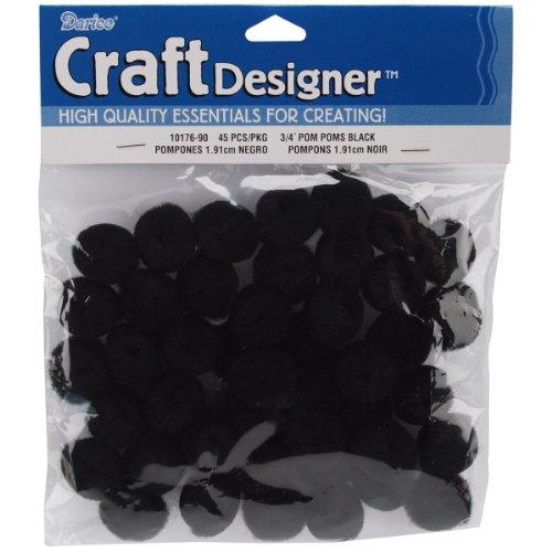 Acrylic Pom Poms Black pieces