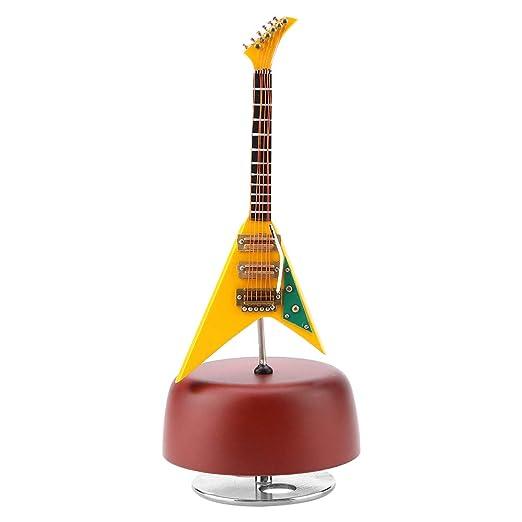 Caja De Música Guitarra Clásica En Miniatura Caja De Plástico Y ...