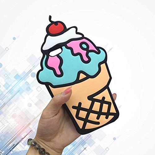 SKS Distribution® cereza lindo estupendo en caso de silicona Soft Top helado para el iPhone de Apple iPhone 7