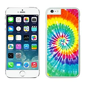 Iphone 6 Plus Case 5.5 Inches, Elegant Nice Colorful Tie Dye White Hard Phone Cover Case for Apple Iphone 6 Plus Accessories