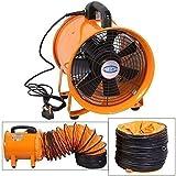Industriel Extracteur Portable Ventilateur Air Axial Métal Souffleur Commercial Échappement Atelier Ventilateur Ventilation Avec 5 mètre Adhésif - 25cm avec conduit