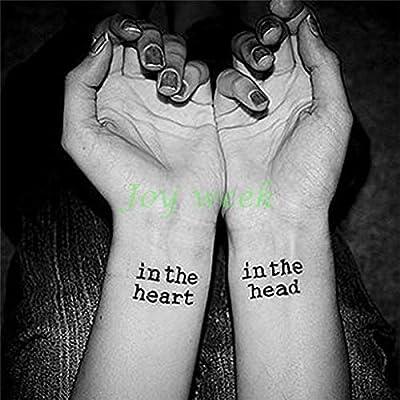 tzxdbh 7Pcs-Etiqueta engomada del Tatuaje Impermeable Latido del ...