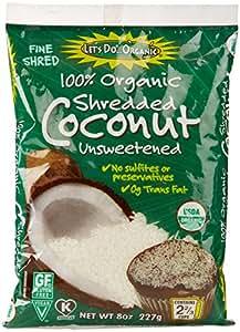 Let's Do Organics Organic Shredded Coconut, 8 Oz