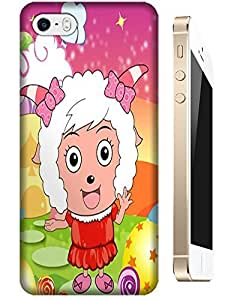 Love Cartoon Sheep lady cel phone cases design for Apple Accessories iPhone 4/4S