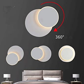 Aplique De Led,Lámpara De Pared,DIY Luz Giratorio De 350°, Para Interior Para Dormitorio Habitación Restaurante Escaleras Balcón Hotel: Amazon.es: Iluminación