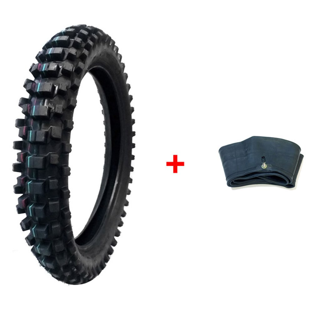 BUNDLE COMBO: TIRE and INNER TUBE Size 120/90-19 Inner Tube TR4 Valve Stem - Motorcycle Off Road Knobby MMG MGTSi_120_90-19_Dirt_Bike