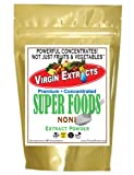 Virgin Extracts (TM) Pure Premium Freeze Dried Organic Noni Berry Powder 5:1 Noni Powder Extract Concentrate (5 x Stronger) 16oz Pouch
