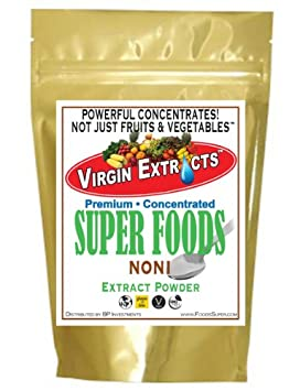 Virgin Extracts TM Pure Premium Freeze Dried Organic Noni Berry Powder 5 1 Noni Powder Extract Concentrate 5 x Stronger 8oz Pouch