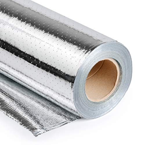 Radiant Barrier by Q-Lam - 500 sq.ft. (48 inch x 125 ft.) Metalized Aluminum Attic Insulation Blocks 95% of Radiant Heat - Heavy Duty - Perforated for Breathability