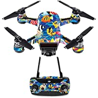 Skin for DJI Spark Mini Drone Combo - Tropical Fish| MightySkins Protective, Durable, and Unique Vinyl Decal wrap cover | Easy To Apply, Remove, and Change Styles | Made in the USA