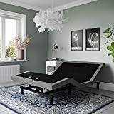 Signature Sleep Power Adjustable Bed Base/Foundation, Assembles in Minutes, Queen, Grey Linen