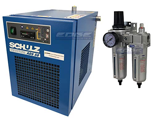 Schulz REFRIGERATED AIR Dryer for AIR Compressor, Compressed AIR Systems, 50 CFM, Good for 10HP & 15HP COMPRESSORS (with Regulator PRE-Filter)