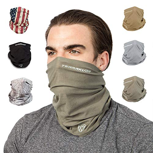Terra Kuda Face Clothing Neck Gaiter Mask – Non Slip Light Breathable for Sun Wind Dust Bandana Balaclava (Operator Green)