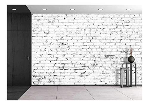 - wall26 - White Brick Wall Background - Canvas Art Wall Mural Decor - 100