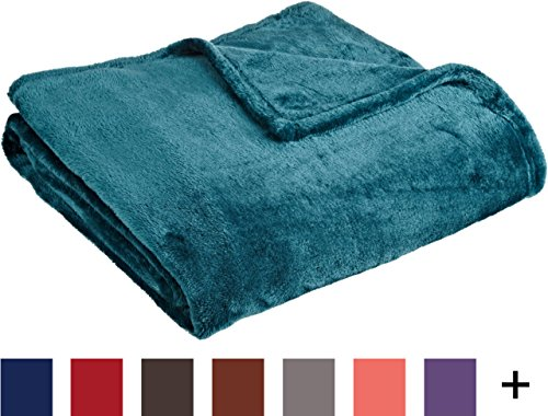 """Northpoint Cashmere Plush Velvet Throw, Teal, 50"""" x 60"""""""