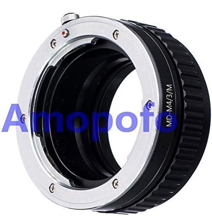 Amopofo Minolta MD MC Lens to Micro 4//3 Mount M4//3 Adapter Macro Focusing Helicoid E-P5