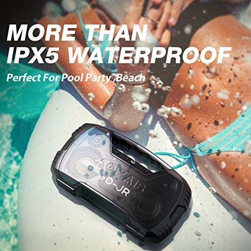 Portable Bluetooth Speaker, AOMAIS 40 Hrs Playtime Outdoor Waterproof Speakers with Lights, 25W Super Stereo Sound and… 7