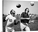 Great BIG Canvas Gallery-Wrapped Canvas entitled Joe Namath (1943), American football player with star soccer player Pele