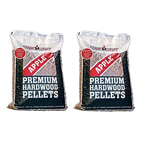 Camp Chef Smoker Grill Premium Apple Hardwood Pellets, 20 Pounds (2 Pack)