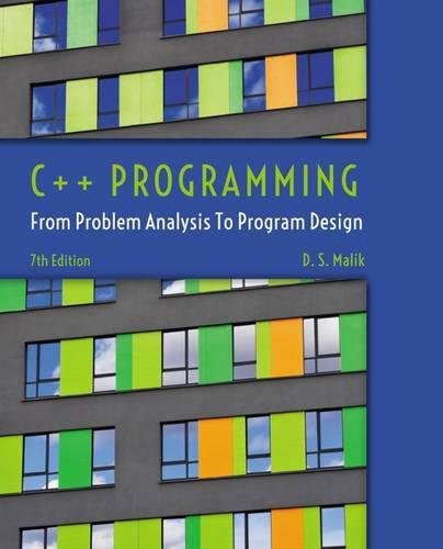 C++ Programming: From Problem Analysis to Program Design cover