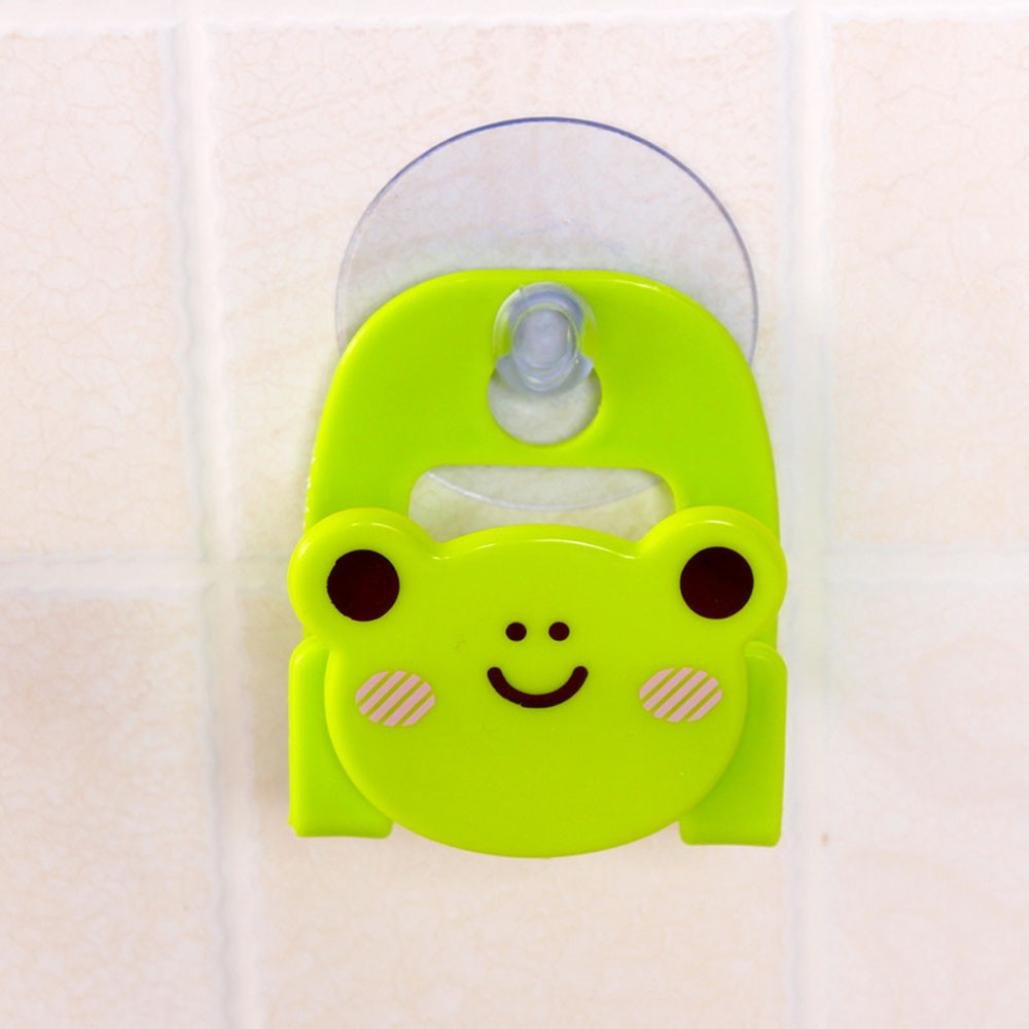 LiPing Cute Animal Series Desktop Dishcloth Rack Dish Cloths Rack Suction Sponge Holder Clip Rag Storage For Kitchen Supplies Cleaning Utensils (Green)