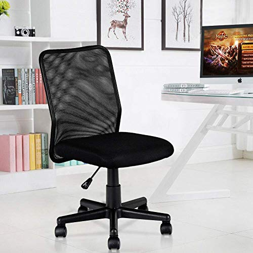 Tangkula Ergonomic Office Chair, Mid-Back Adjustable Ergonomic Mesh Swivel Durable Office Chair