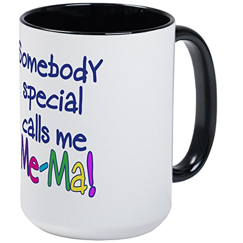 CafePress - SOMEBODY SPECIAL CALLS ME ME-MA! Large Mug - Coffee Mug, Large 15 oz. White Coffee Cup (Calls Someone Special)