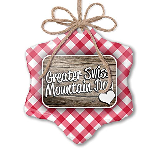 NEONBLOND Christmas Ornament Greater Swiss Mountain Dog, Dog Breed Switzerland Red - Ornament Dog Mountain Swiss