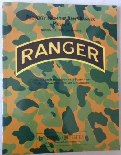 Butterfield & Butterfield Auction Catalog Property from the Army Ranger (Army Rangers Gear)