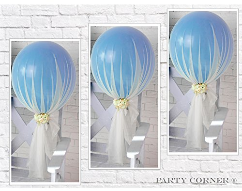 Tulle Kit (Party Tulle Balloons Kit (12 pcs) for Baby Shower Birthday Wedding Party Decoration (Jasmine))