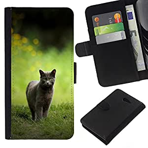 Stuss Case / Funda Carcasa PU de Cuero - CAT CAZA - Sony Xperia M2