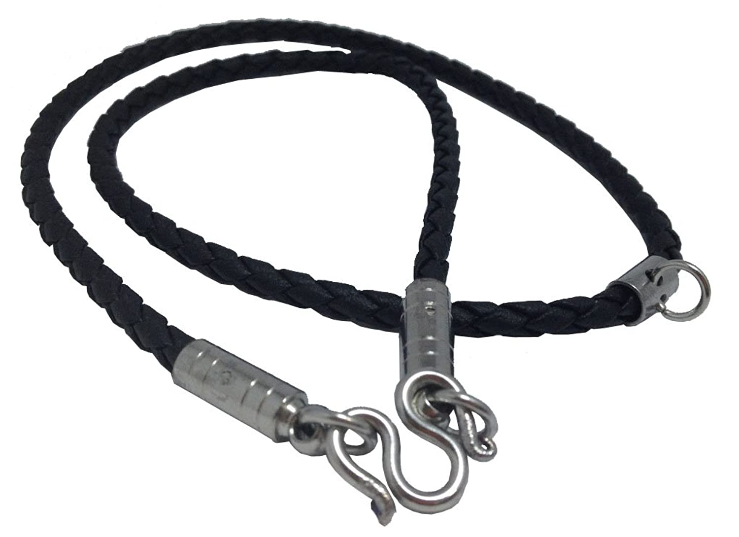 exclusive boys gray necklaces black rope beautiful oblacoder braided necklace for