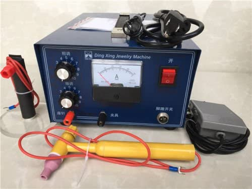 Jewelry Laser Welding Machine Spot Welder Gold Silver with Handle Tool 110V 400W