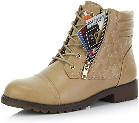 DailyShoes Womens Military Exclusive Quilted